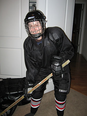 Jill in her hockey gear