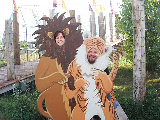 JC and Jill at the Wild Animal Sanctuary