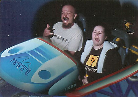 JC and I on Millennium Force