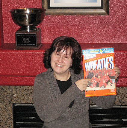 The Nordiques Wheaties box!