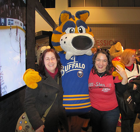 Leah and I with Sabretooth